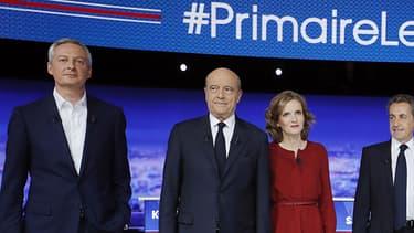 Les sept candidats de la primaire à droite jeudi lors de leur premier débat télévisé.