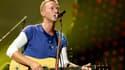 Chris Martin sur scène avec Coldplay en août 2016
