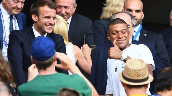 Mbappé avec Macron
