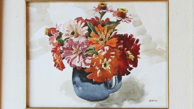 Une aquarelle réalisée par Adolf Hitler en 1912.