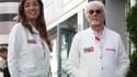 Fabiana et Bernie Ecclestone lors du Grand Prix de Russie 2019