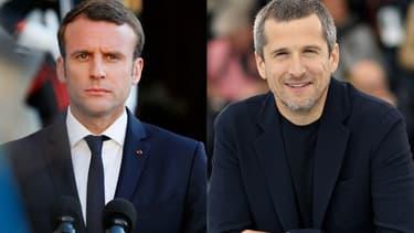 Emmanuel Macron et Guillaume Canet