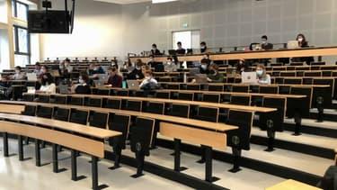 Un amphithéâtre à l'université de Lille.