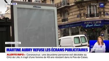 Lille: Martine Aubry refuse l'installation de panneaux publicitaires numériques