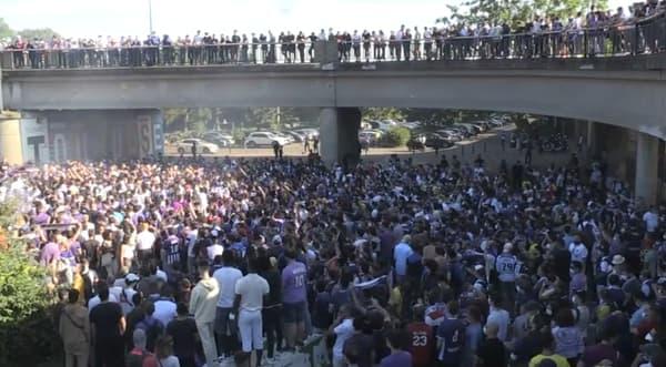 La foule rassemblée à Toulouse