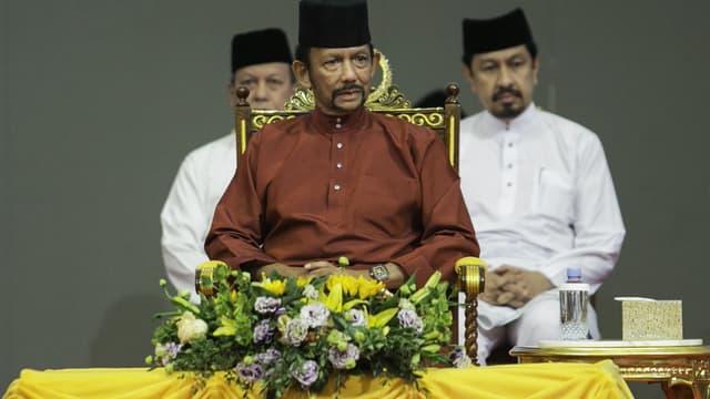 Le sultan du Brunei Hassanal Bolkiah dans la capitale Bandar Seri Begawan le 3 avril 2019.