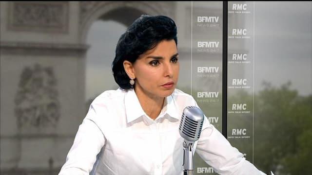 Rachida Dati, contactée par téléphone, a réagi aux récentes violences urbaines à Trappes sur BFMTV le 22 juillet 2013.