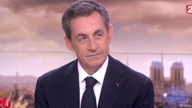 Nicolas Sarkozy sur le plateau du 20h de France2, le 21 janvier 2015.