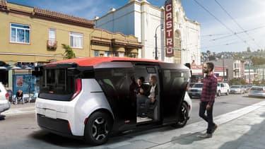 Le prototype de taxi autonome, ou Robotaxi, de General Motors