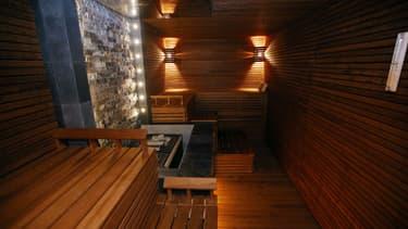 Un sauna.