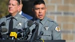 Le policier Adan Mendoza lors de la conférence de presse à Santa Fe le 27 octobre 2021.