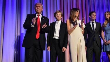 Donald Trump et sa famille à New York, le 9 novembre 2016
