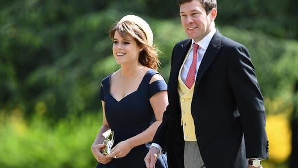 La princesse Eugenie et son fiancé Jack Brooksbank, le 20 mai 2017.