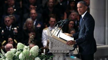 Discours de Barack Obama lors des funérailles du sénateur John McCain à Washington, le 1er septembre 2018