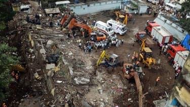Au moins 45 personnes sont mortes dans l'effondrement d'un immeuble à Bombay, samedi.