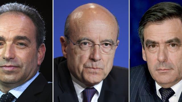 Jean-François Copé, Alain Juppé, et François Fillon