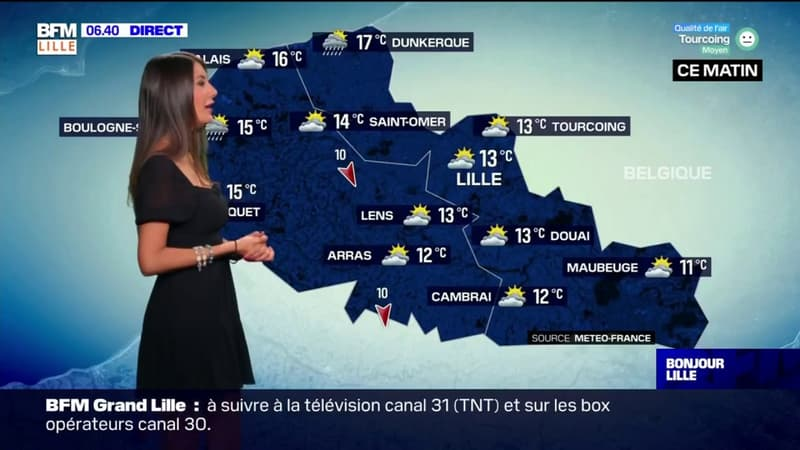Météo Nord-Pas-de-Calais: beaucoup de nuages et quelques petites pluies possibles ce vendredi