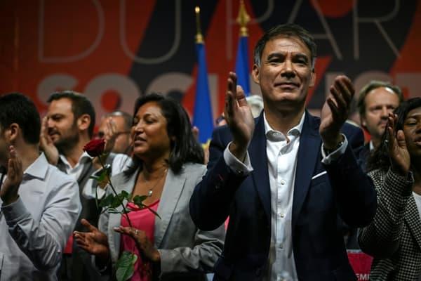 Olivier Faure après son discours au congrès du PS, le 19 septembre 2021 à Villeurbanne