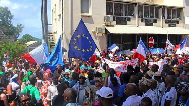 Manifestation à Mayotte, le 13 mars 2018