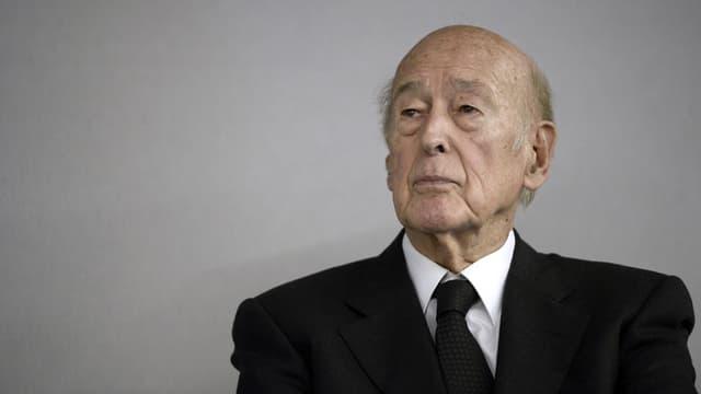 Valéry Giscard d'Estaing le 14 octobre 2014 au Bourget, près de Paris.