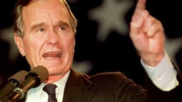 George H.W. Bush en octobre 1992.