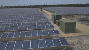 Dans le département des Landes, Cam Energie a construit sur un site de 27 hectares une surface de 77.000 mètres carrés de panneaux solaires, qui produisent de quoi alimenter en électricité l'équivalent de 6.500 foyers.