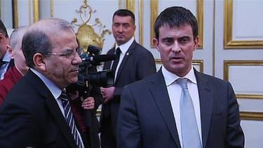 Manuel Valls lors de la cérémonie des vœux aux autorités religieuses à l'Elysée, mardi 7 janvier.