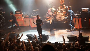 Les Eagles of Death Metal, le 13 novembre au Bataclan, juste avant l'attaque terroriste.