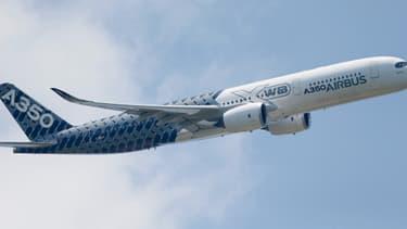 Un A350 lors d'un vol-test sans passager à bord, le 23 mai dernier.