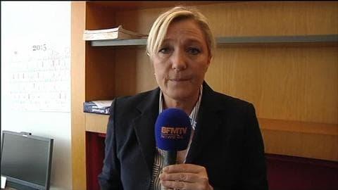 """""""Il y a un point commun entre le FN et Syriza"""", selon Marine Le Pen"""