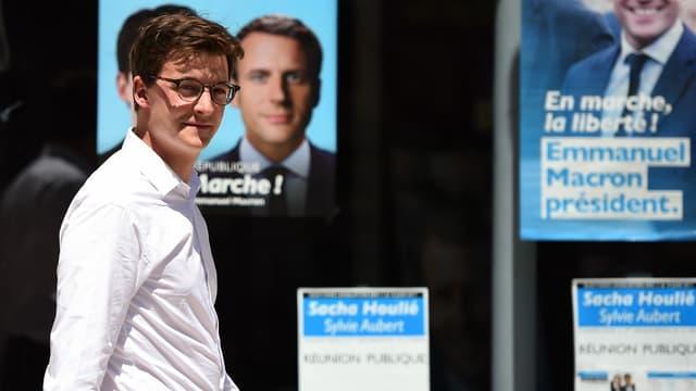 Sacha Houlié, l'un de jeunes députés élus pour La République en marche lors du second tour des législatives.