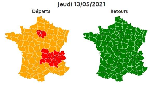 La situation sur les routes sera compliquée jeudi en Ile-de-France et en région Auvergne-Rhône-Alpes.