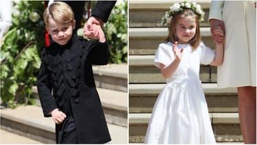 George et Charlotte au mariage du prince Harry et Meghan Markle
