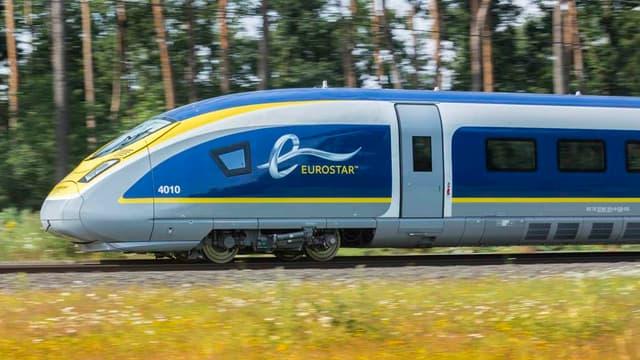 L'Eurostar e320 lors d'une présentation à Londres en 2010