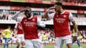 Nicolas Pépé et Pierre-Emerick Aubameyang avec Arsenal