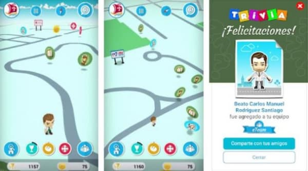 Captures écran du jeu.