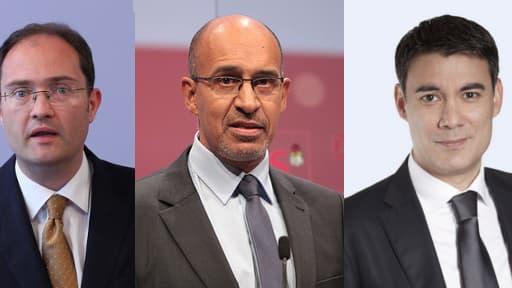Guillaume Bachelay, Harlem Désir et Olivier Faure sont les nouveaux hommes forts du PS.