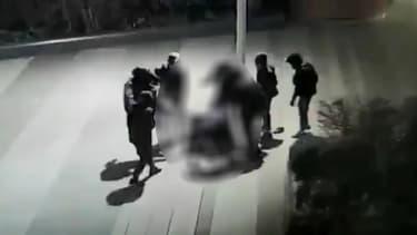 Les images filmées par la vidéosurveillance lors de l'agression de Youriy, vendredi 15 janvier 2021