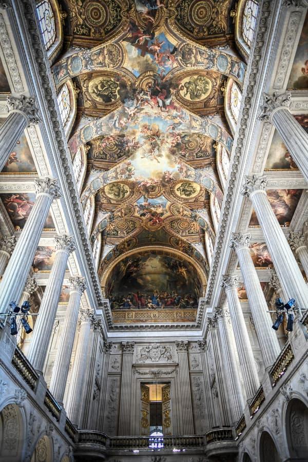 L'intérieur de la Chapelle Royale, à Versailles.