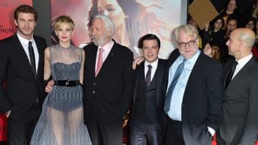 """L'équipe du film """"Hunger Games"""" en novembre dernier, à Los Angeles."""