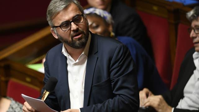 Le député LFI Alexis Corbière lors de la séance de questions au gouvernement à l'Assemblée nationale, le 16 janvier 2018