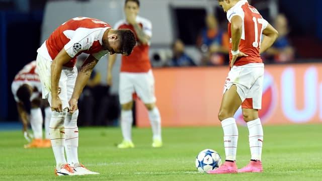 Olivier Giroud a été expulsé à Zagreb.