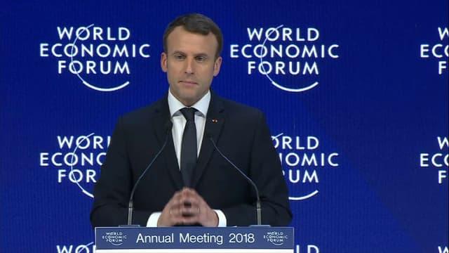 En janvier 2017, Emmanuel Macron s'était rendu au Forum économique mondial, à Davos, en Suisse.