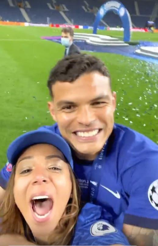 Belle Silva et Thiago Silva, à Porto le 29 mai 2021