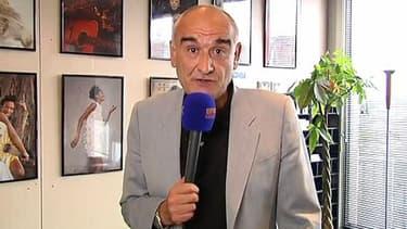 Pascal Nègre, président d'Universal Music France au micro de BFMTV, jeudi.