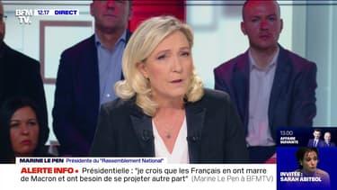"""""""Quand je serais élue, sur un certain nombre de sujets clivants, je mettrai en place des référendums"""", Marine Le Pen - 02/02"""