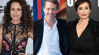 """Andie MacDowell, Hugh Grant et Kristin Scott Thomas, trois des stars de """"Quatre mariages et un enterrement"""""""