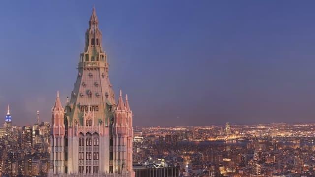 Un appartement au sommet du Woolworth Building est à vendre.
