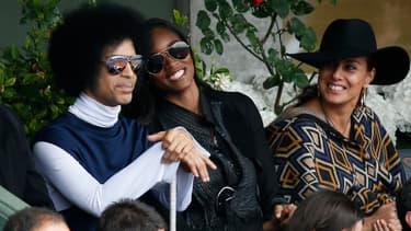 Le chanteur Prince à Roland Garros, le 2 juin 2014.