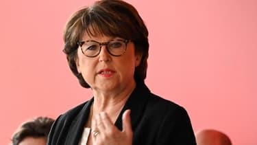 Martine Aubry lors d'une conférence de presse à Lille le 1er février 2020